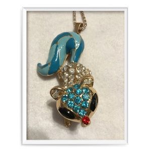 Betsy Johnson Squirrel Necklace